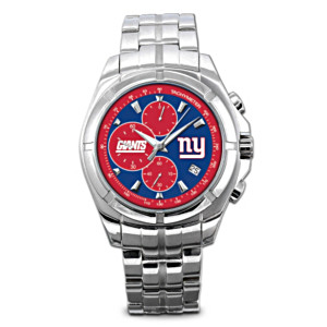New York Giants Stainless Steel Chronograph Watch
