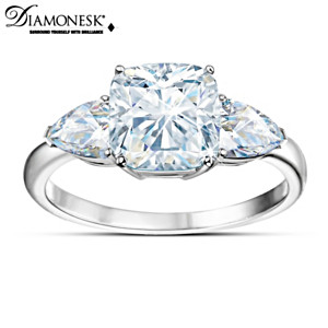 "Crown Jewel-Inspired ""Royal Legacy"" 6-Carat Diamonesk Ring"
