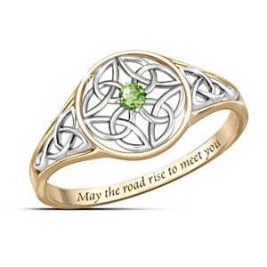 """""""Celtic Beauty"""" Peridot Women's Ring"""