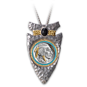 Indian Head Nickel Arrowhead Men's Pendant Necklace
