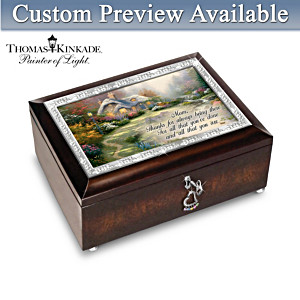 Thomas Kinkade Personalized Family Birthstone Music Box