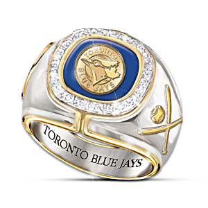 Toronto Blue Jays Engraved Diamond Commemorative Ring