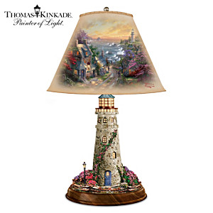 "Thomas Kinkade ""The Village Lighthouse"" Tabletop Lamp"