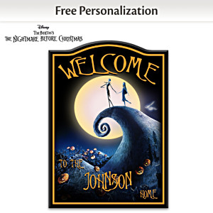 """The Nightmare Before Christmas"" Personalized Welcome Sign"
