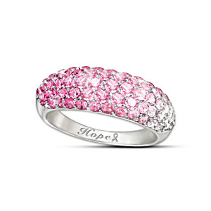"""Shades Of Hope"" Breast Cancer Support Diamonesk Ring"