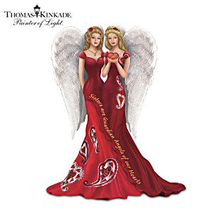 Thomas Kinkade Heart Health Awareness Sister Angel Figurine