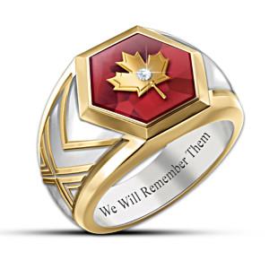 """Lest We Forget"" Remembrance Men's Ring"