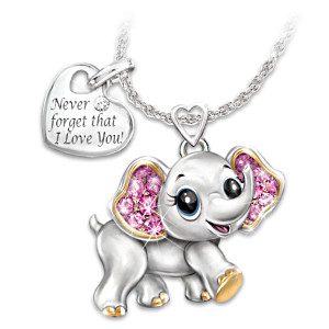 """Granddaughter, Never Forget I Love You"" Crystal Necklace"