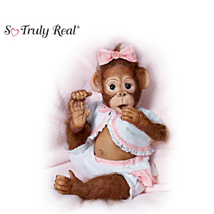 "Cindy Sales ""Cute As A Button"" Poseable Baby Monkey Doll"