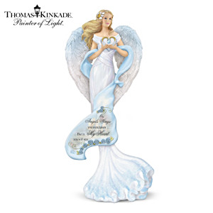 "Thomas Kinkade ""Memories Of Love"" Remembrance Angel Figurine"