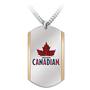 Molson Canadian Pride Men's Dog Tag Pendant Necklace