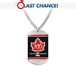 """Hockey Canada 100th Anniversary"" Dog Tag Pendant Necklace"