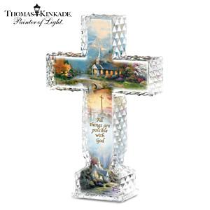 "Thomas Kinkade ""Inspirations Of Hope"" Crystalline Cross"