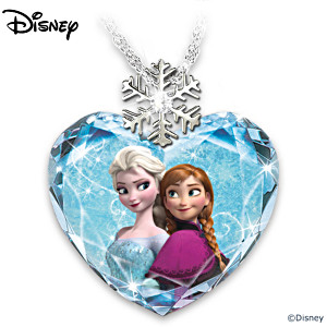 Disney FROZEN Faceted Crystal Heart Pendant Necklace