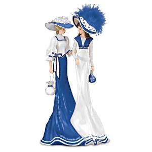 """True Blue Friend"" Figurine With Two Swarovski Crystals"