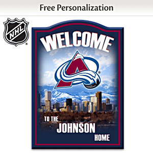 Colorado Avalanche® Welcome Sign Personalized With Name