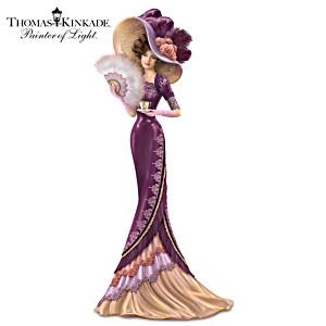 "Thomas Kinkade ""An Elegant Love"" Victorian Lady Figurine"