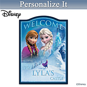 Disney FROZEN Welcome Sign Personalized With Your Name