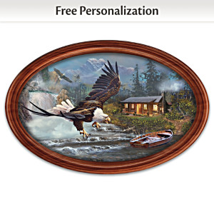 "Ted Blaylock ""Majestic Retreat"" Plate With Your Family Name"
