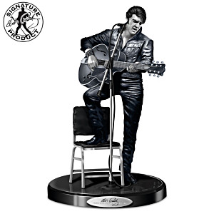 """Elvis Presley's '68 Comeback Platinum Edition"" Sculpture"