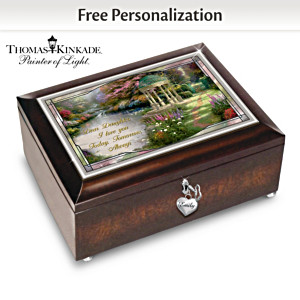 Thomas Kinkade Illuminated Personalized Daughter Music Box