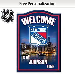 New York Rangers® Welcome Sign Personalized With Name