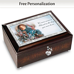 Loving Blessings Personalized Blue Music Box