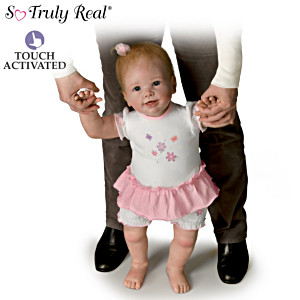 """Isabella's First Steps"" Interactive Walking Baby Doll"