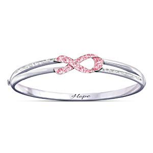 Ribbon Of Hope Swarovski Crystal Bracelet: Choose Your Cause