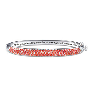 """""""Lest We Forget"""" Canadian Heroes Simulated Jewelled Bracelet"""