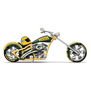 Green Bay Packers Chopper With Official Logos And Colours