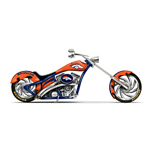 Denver Broncos Chopper With Official Logos And Colours
