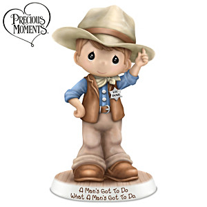 Precious Moments John Wayne Tribute Cowboy Figurine