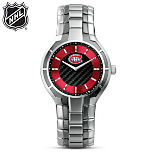 NHL®-Licensed Canadiens® Carbon Fiber Watch
