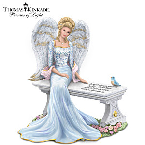 Thomas Kinkade Heaven's Embrace Angel With Swarovski Crystal