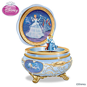 """Disney Celebrating Cinderella"" Heirloom Porcelain Music Box"