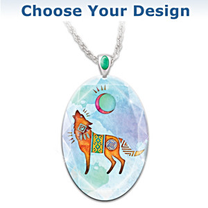"""Spirit Animal"" Crystal Pendant Necklace: Choose Your Animal"