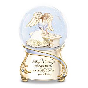Forever In My Heart Musical Glitter Globe With Angel Inside