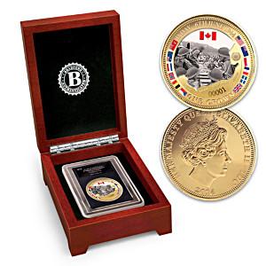 D-Day Landings Commemorative Golden Crown Coin