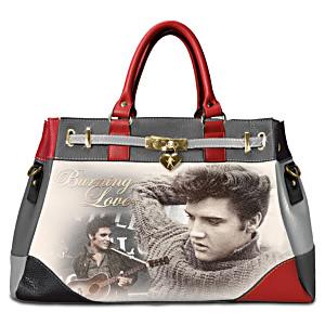 """Elvis """"Burning Love"""" Handbag With Removable Shoulder Strap"""