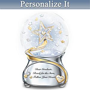 Congratulations Graduate Personalized Musical Glitter Globe
