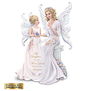 Lena Liu Mother And Daughter Angel Figurine