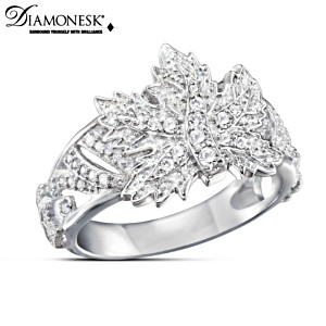 Maple Splendour Ladies' Diamonesk Ring