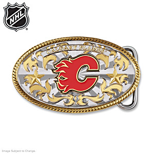 Calgary Flames® 20K Gold-Plated Belt Buckle