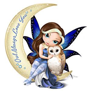 """Jasmine Becket-Griffith """"Owl Always Love You"""" Fairy Figurine"""