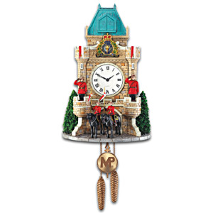 RCMP Wall Clock With Sound And Motion