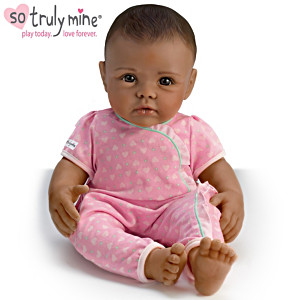 So Truly Mine Play Doll: Black Hair, Brown Eyes, Dark Skin
