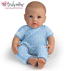 So Truly Mine Baby Boy Doll: Light Brown Hair, Blue Eyes