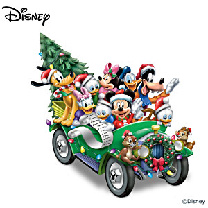 """Disney """"Once Upon A Holiday"""" Illuminated Musical Sculpture"""