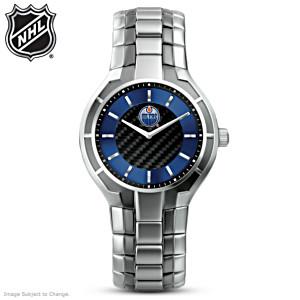 NHL®-Licensed Edmonton Oilers® Carbon Fiber Watch